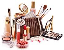 Free Decorative Cosmetics For Makeup. Royalty Free Stock Images - 34068499