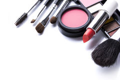 Decorative cosmetics isolated over white Royalty Free Stock Photo