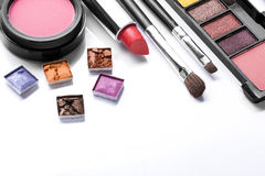 Decorative cosmetics isolated over white Stock Image