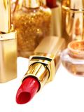 Decorative cosmetics with lipstick. Stock Images