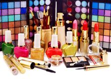 Decorative cosmetics for makeup. Royalty Free Stock Photos