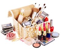 Decorative cosmetics for makeup. Royalty Free Stock Images