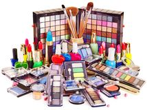 Decorative cosmetics for makeup. Stock Photo