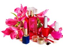 Decorative cosmetics and perfume. Royalty Free Stock Images