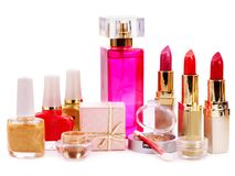 Decorative cosmetics and perfume. Royalty Free Stock Photo