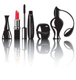 Decorative cosmetics products Royalty Free Stock Image