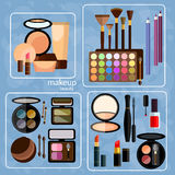 Decorative cosmetics professional make-up Royalty Free Stock Images