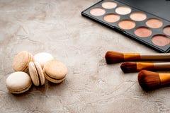 Decorative cosmetics on stone background Stock Photos