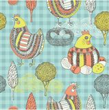 Decorative Country Easter Card Stock Image
