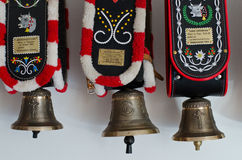 Decorative cow bells South Tyrol Royalty Free Stock Images