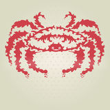Decorative crab. Hand drawn decorative crab, design element Stock Photography