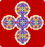 Decorative Cross. With leaf patterns Royalty Free Stock Images