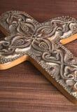 Decorative Cross. On textured background Stock Image
