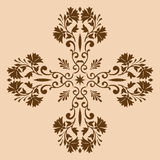 Decorative cross monochrome. Abstract artistic Stock Images