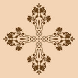 Decorative cross monochrome. Abstract artistic Royalty Free Stock Photography