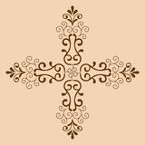 Decorative cross monochrome. Abstract artistic Royalty Free Stock Images