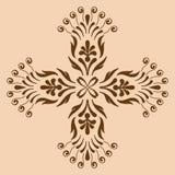 Decorative cross monochrome. Abstract artistic Stock Image
