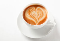 Decorative cup of cappuccino coffee Royalty Free Stock Photo