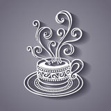 Decorative Cup of Coffee with Steam Stock Photos