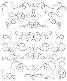 Decorative curls and swirls collection Royalty Free Stock Image