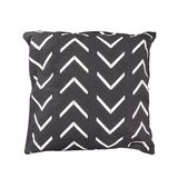 Decorative cushion with geometric pattern. Isolated on white background stock images