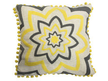 Decorative cushion with geometrical pattern Stock Image