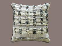 Decorative cushion knitted pattern Royalty Free Stock Images
