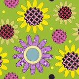 Decorative daisy pattern Stock Photography
