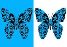Decorative damask butterflies Stock Image