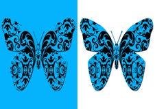 Decorative damask butterflies stock image