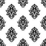 Decorative damask floral seamless pattern Stock Photos