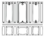 Decorative Damask Ornamented frames for walls or backgrounds Stock Photos