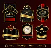 Decorative dark gold frames labels Royalty Free Stock Photography