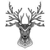 Decorative Deer Portrait Stock Photo
