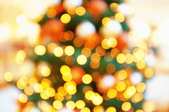 Decorative Defocused Winter Lights Royalty Free Stock Photo