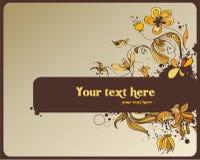 Decorative design. Decorative floral design, illustration Royalty Free Stock Photography