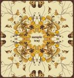 Decorative design. Decorative floral design, illustration Stock Photo