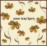 Decorative design. Decorative floral design, illustration Royalty Free Stock Images