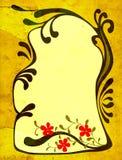 Decorative design. Creative floral design with ornamental frame; illustration Stock Photo