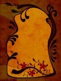 Decorative design. Creative floral design with ornamental frame; illustration Stock Photography