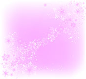 Decorative design. Decorative frame with lots of snowflakes, ideal for christmas cards Stock Photography