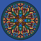 Decorative design of circle dish template Royalty Free Stock Image