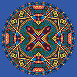 Decorative design of circle dish template Stock Images