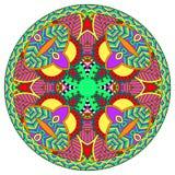 Decorative design of circle dish template, round Royalty Free Stock Photos
