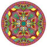 Decorative design of circle dish template Royalty Free Stock Photo