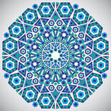 Decorative design of circle template in traditional oriental sty Royalty Free Stock Images