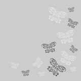 Decorative design element with butterflies Royalty Free Stock Photo