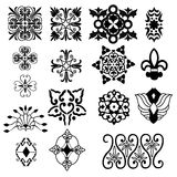 Decorative design elements. Illustration Stock Photo