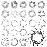 Decorative design elements Stock Photo