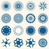 Decorative design elements. Circle ornament. Vector set Royalty Free Stock Image